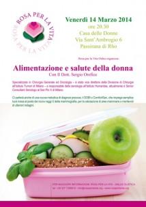 14 marzo alimentazione e salute della donna